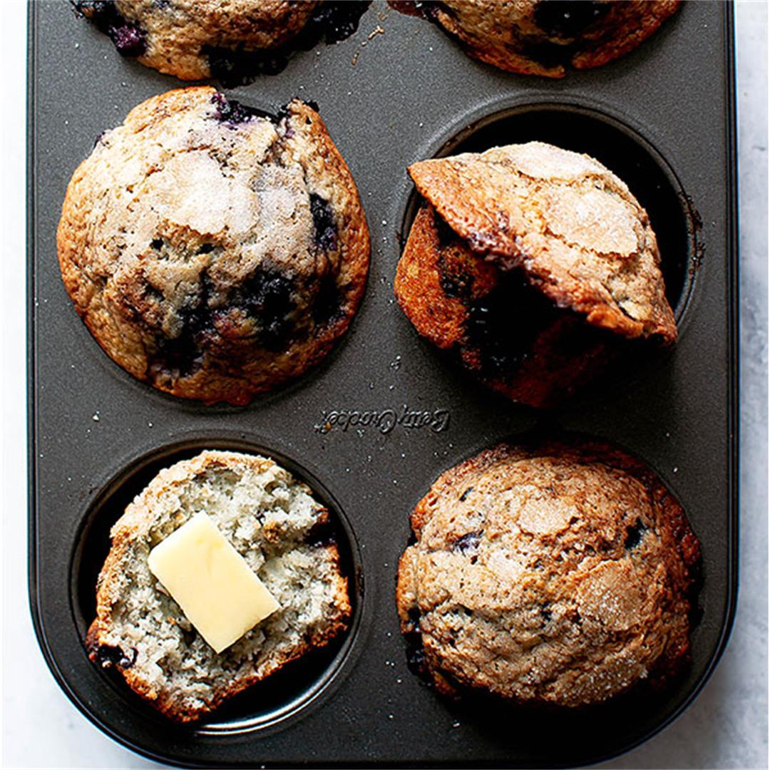 Dairy-Free Blueberry Muffins (Small Batch, One Bowl)