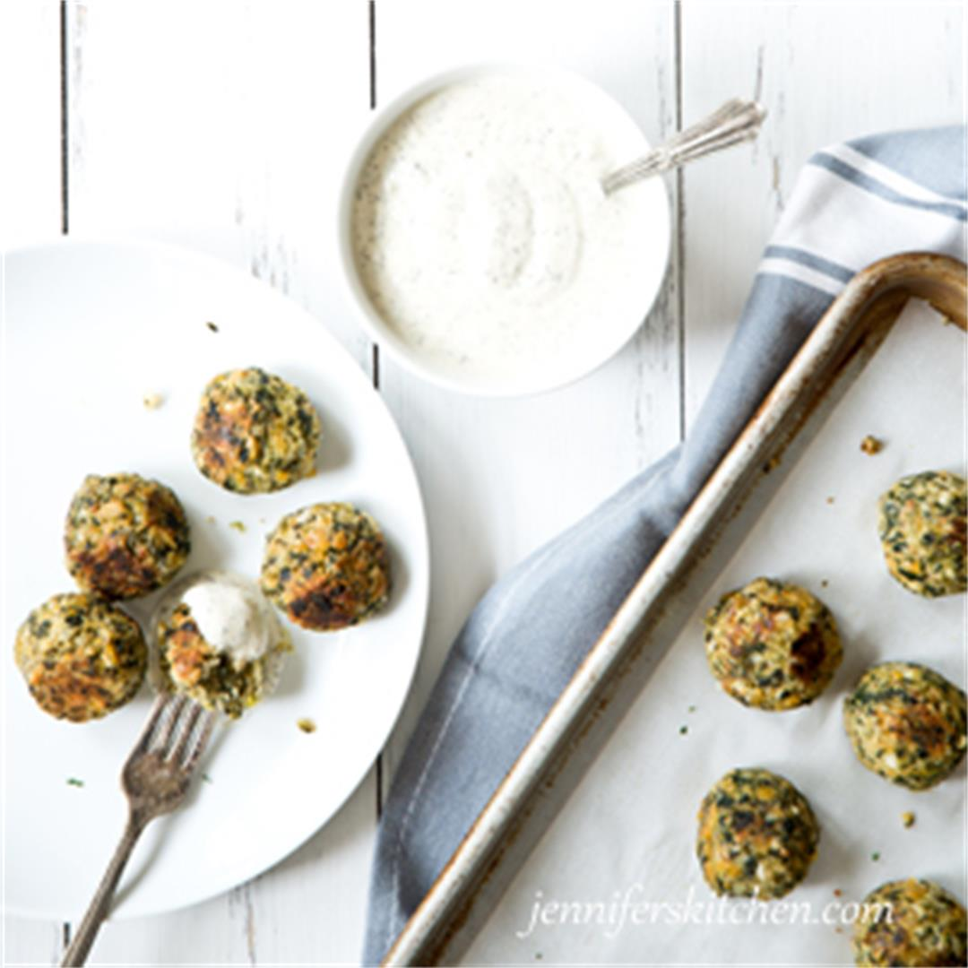 Chickpea Spinach Nuggets (Vegan and Gluten Free)