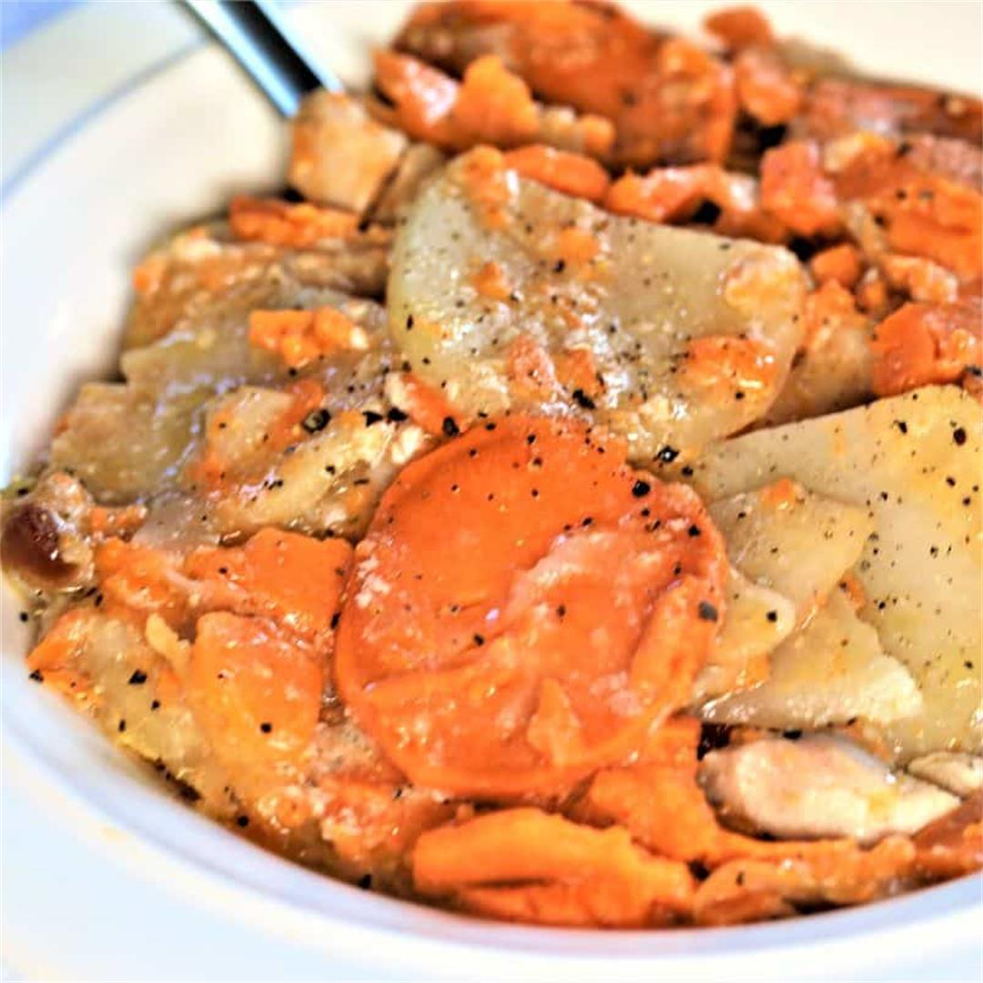 Scalloped Potatoes With Chicken