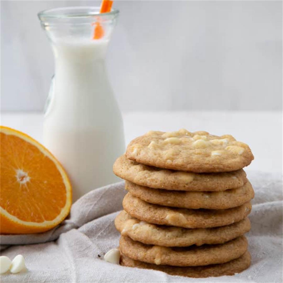 Chewy White Chocolate Orange Cookies