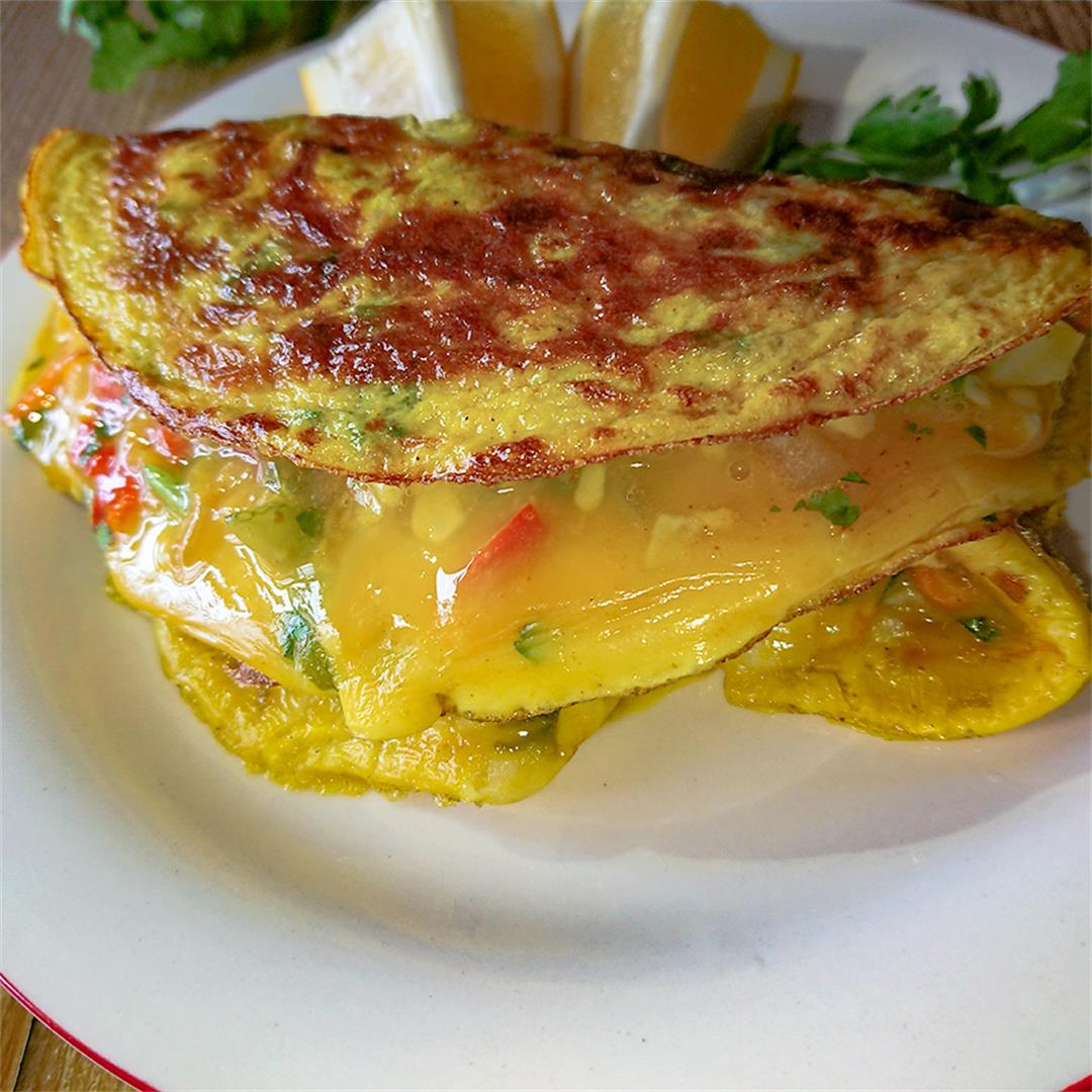 Omelet With Vegetables And Turmeric