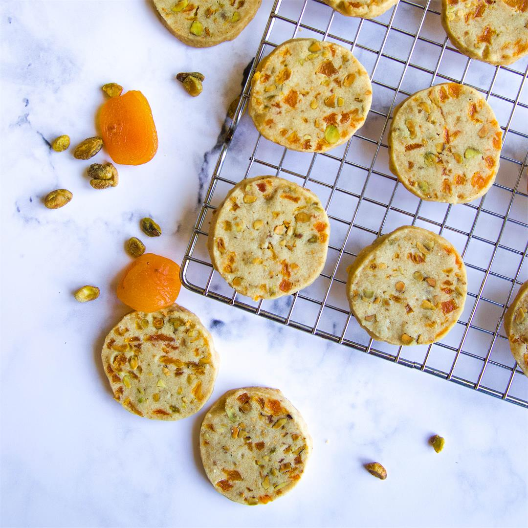 Apricot and Pistachio Shortbread Cookies — Bakes by Brown Sugar