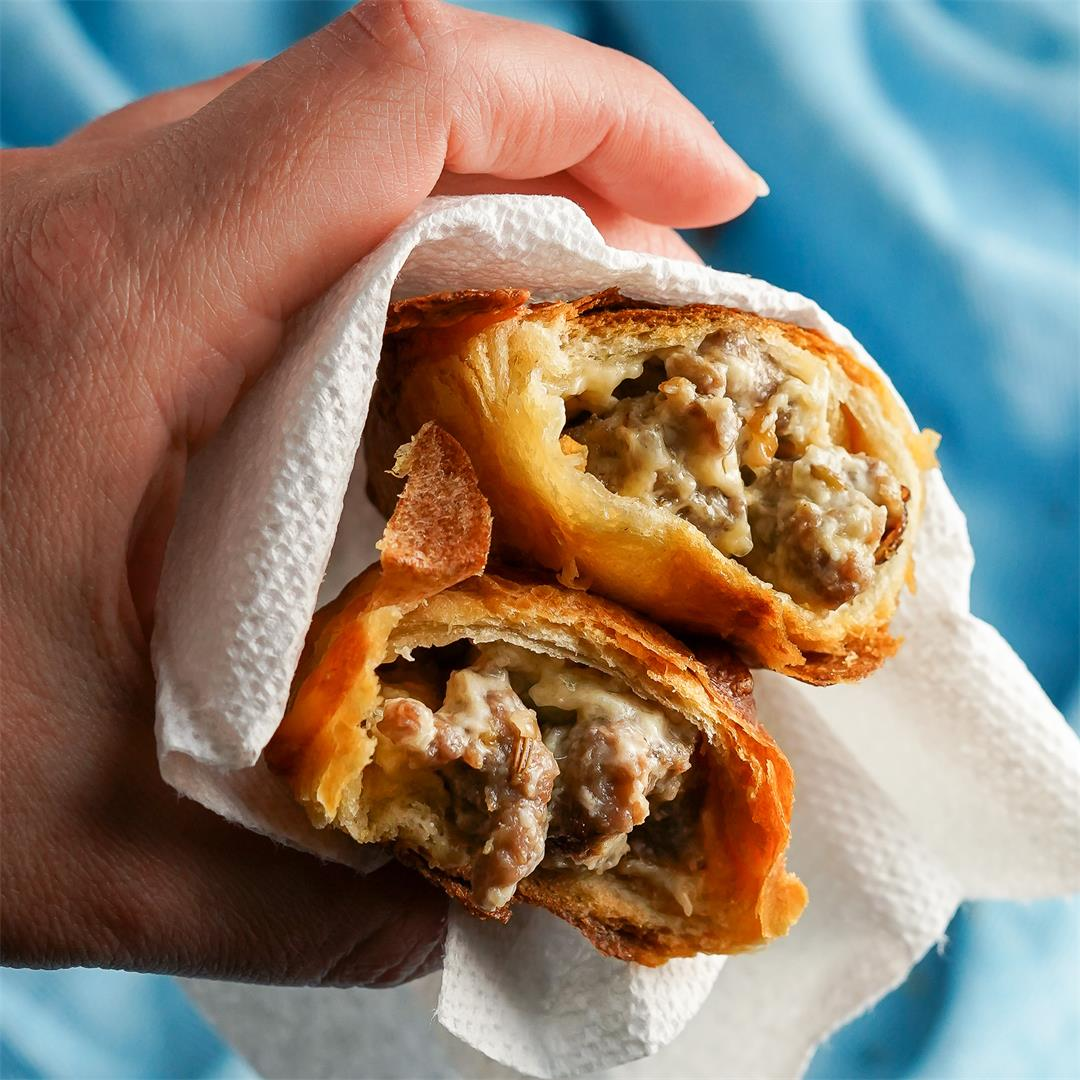 Sausage and Cheese Turnovers
