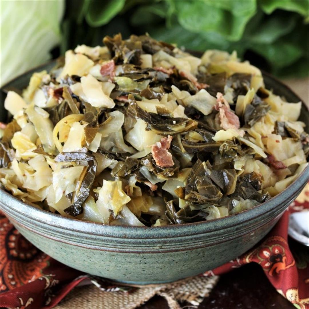 Southern Collards & Cabbage Mixed Greens