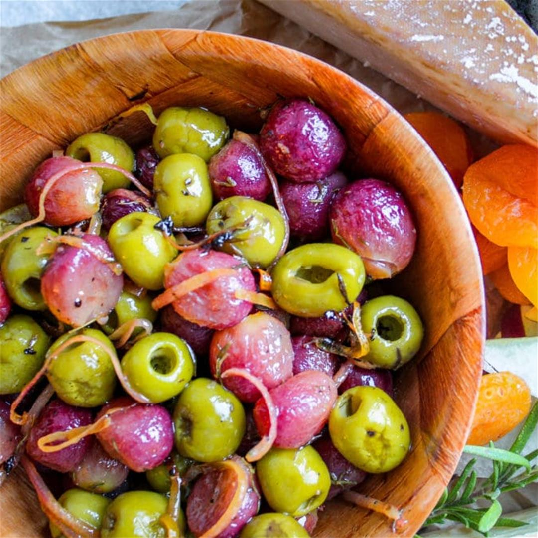 Roasted Grapes and Olives Recipe