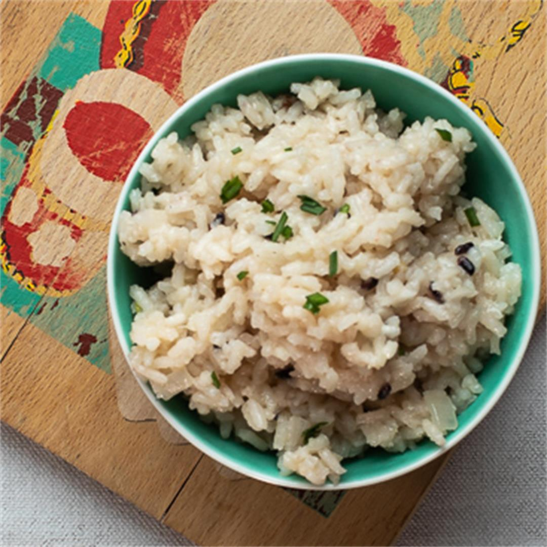 Creamy Buttery Parmesan Rice