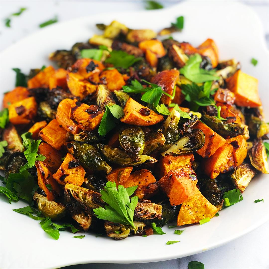 Roasted Balsamic Thanksgiving Vegetables