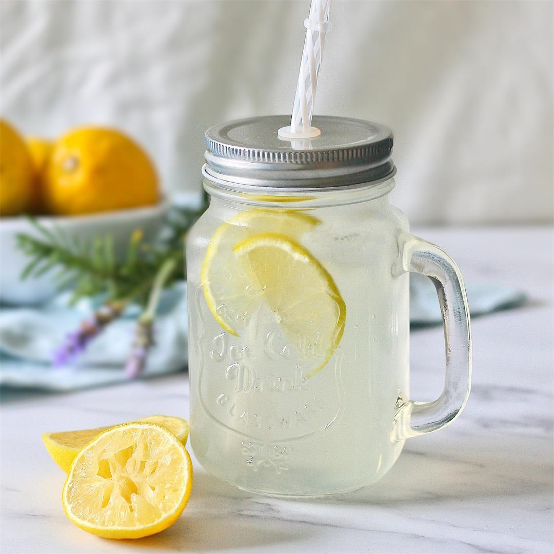 Homemade old fashioned lemonade