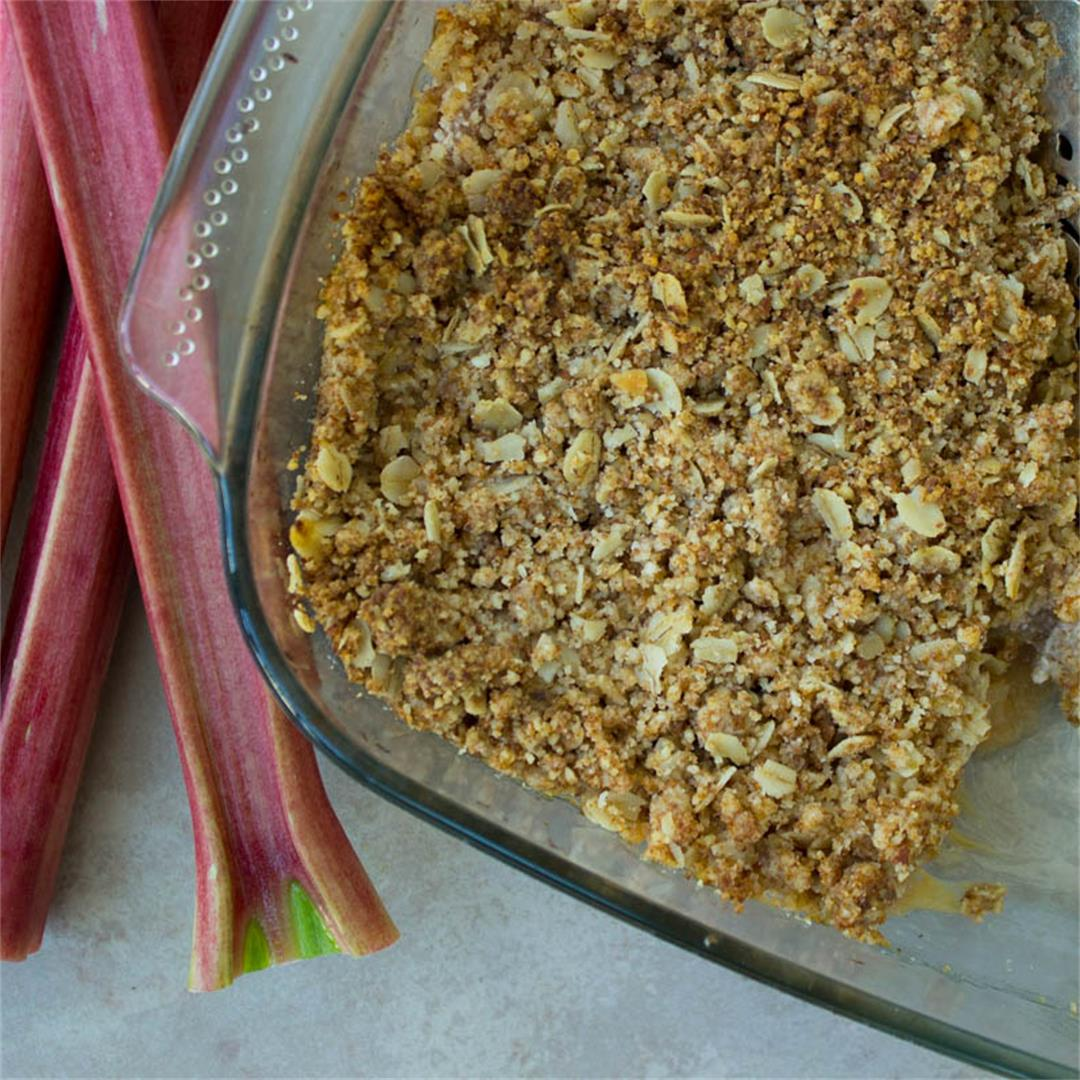 Rhubarb & Apple Crumble (vegan + gluten-free)
