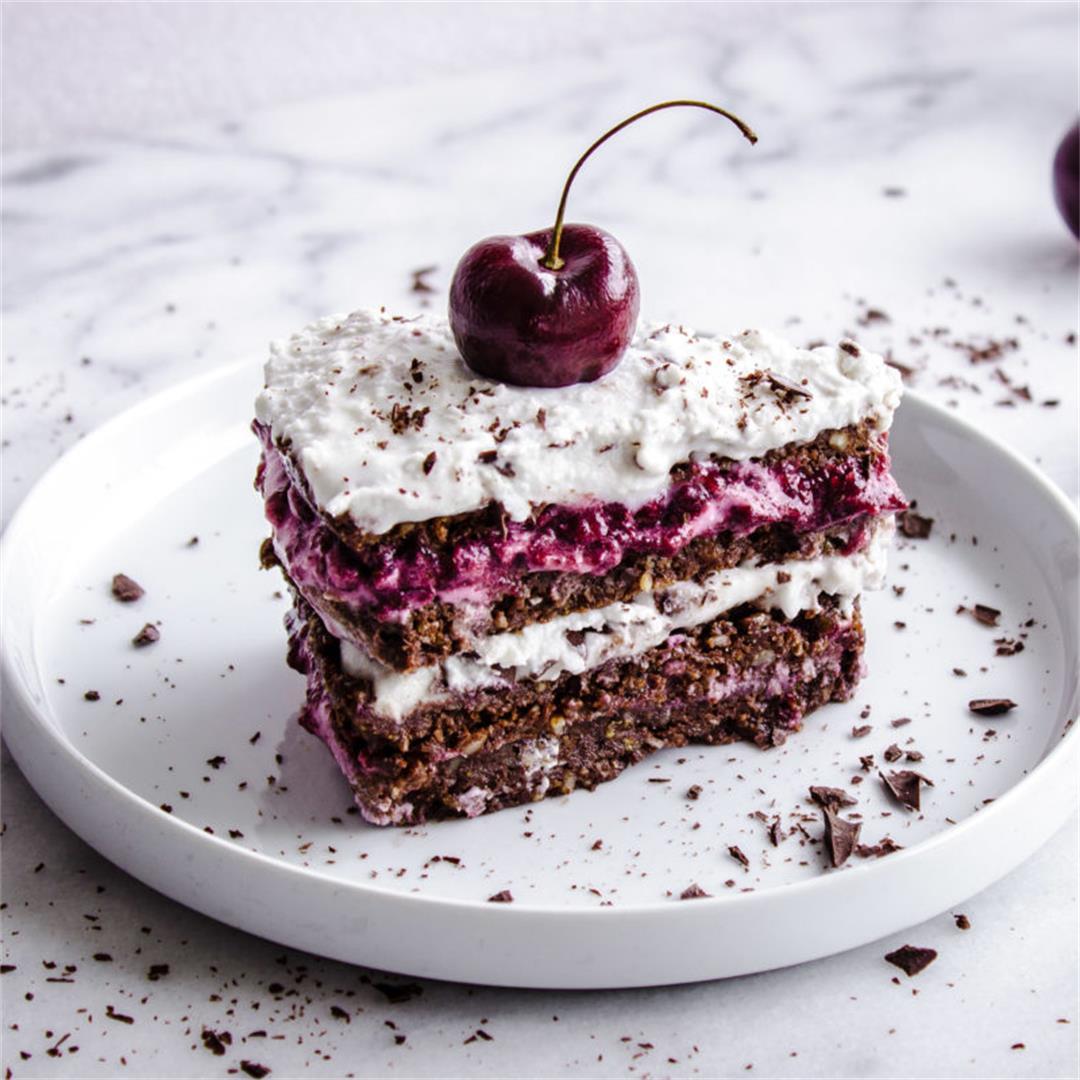 No-Bake Black Forest Cake (vegan & gluten-free)