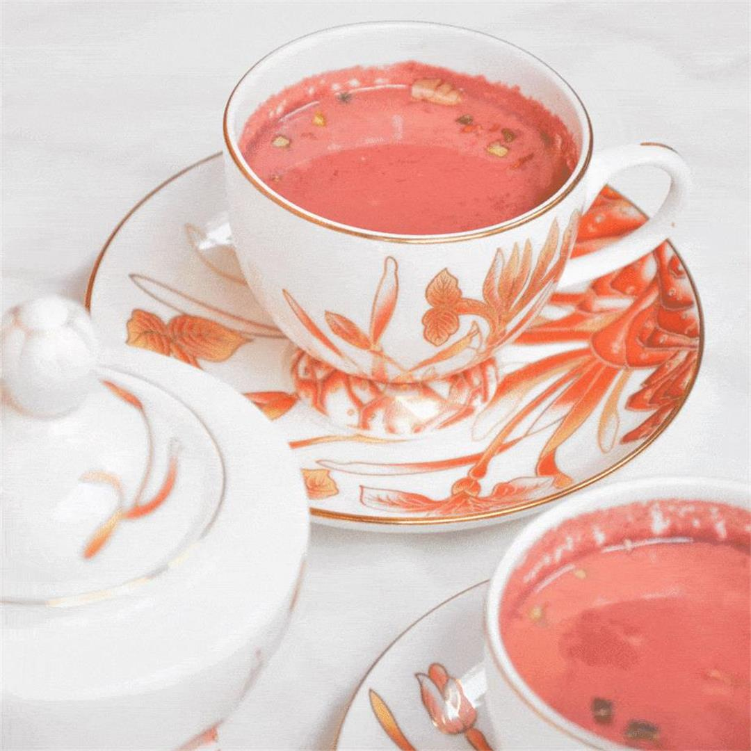 Pink Kashmiri Tea, Noon chai recipe|Step by Step