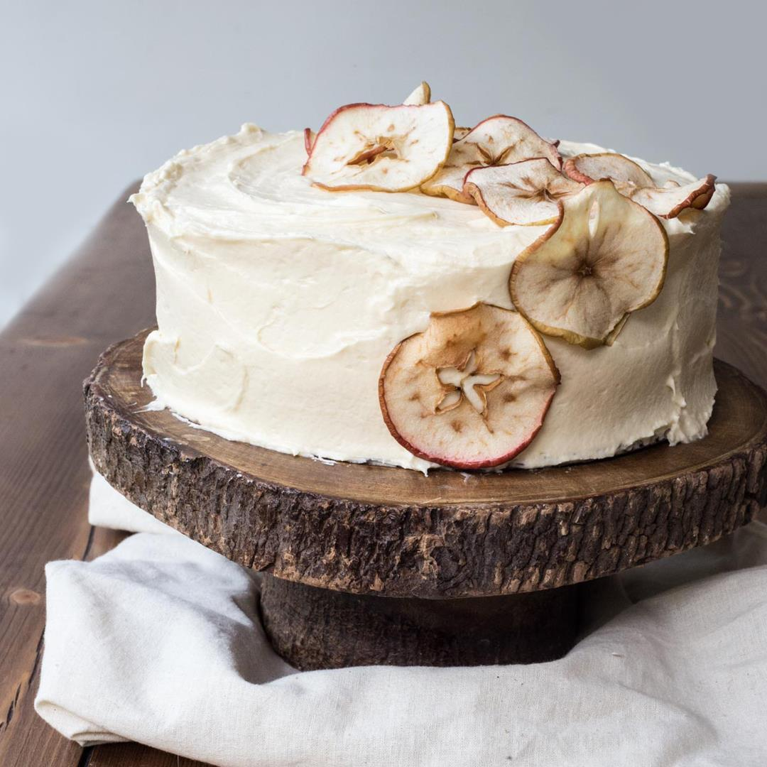 Spiced Apple Cake with Salted Caramel Cream Cheese Buttercream