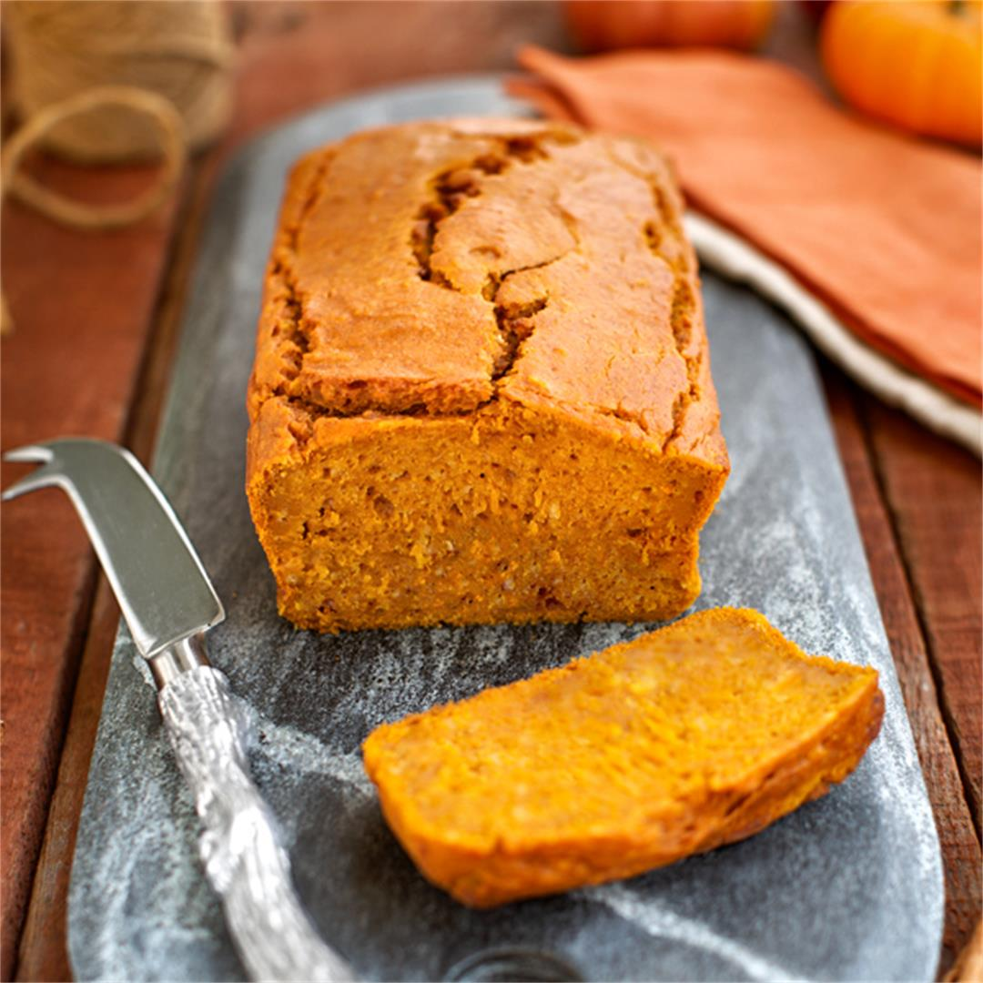 Best Basic Pumpkin Bread; Vegan, Gluten-Free, Oil-Free!