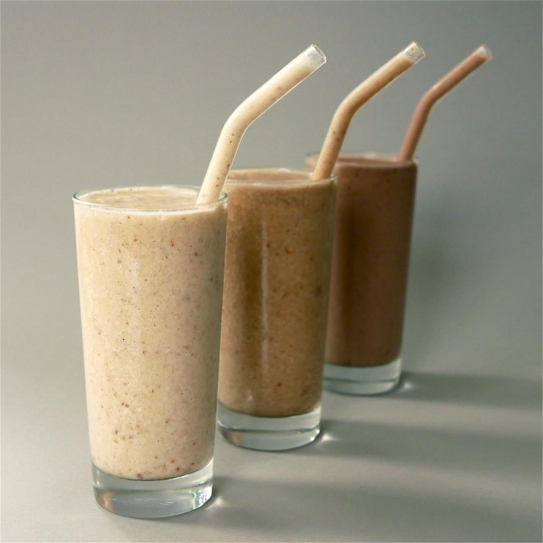 Coffee / Peanut Butter & Chocolate / Cinnamon-Banana Smoothie