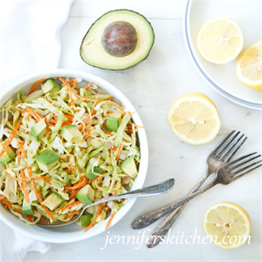 6-ingredient Avocado Cabbage Slaw