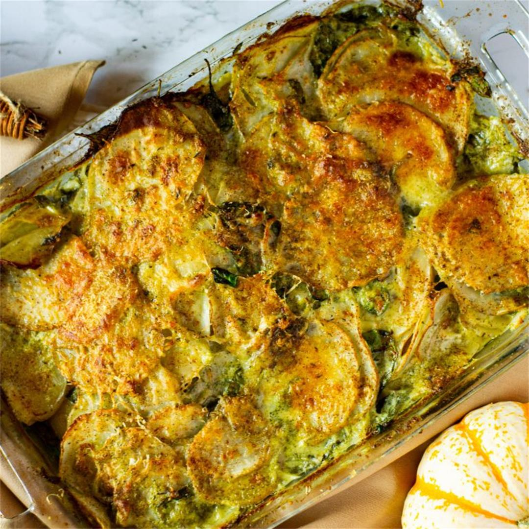 Broccoli & Potato Gratin