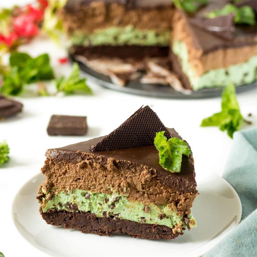 Brownie Mint and Chocolate Mousse Cake (After Eight Mousse Cake
