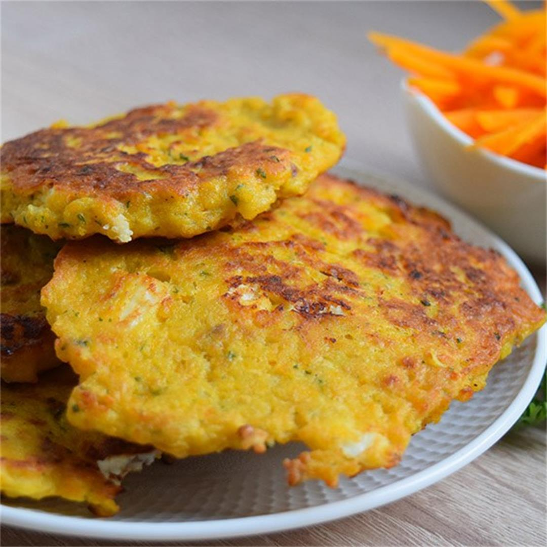 Pumpkin and Feta Fritters