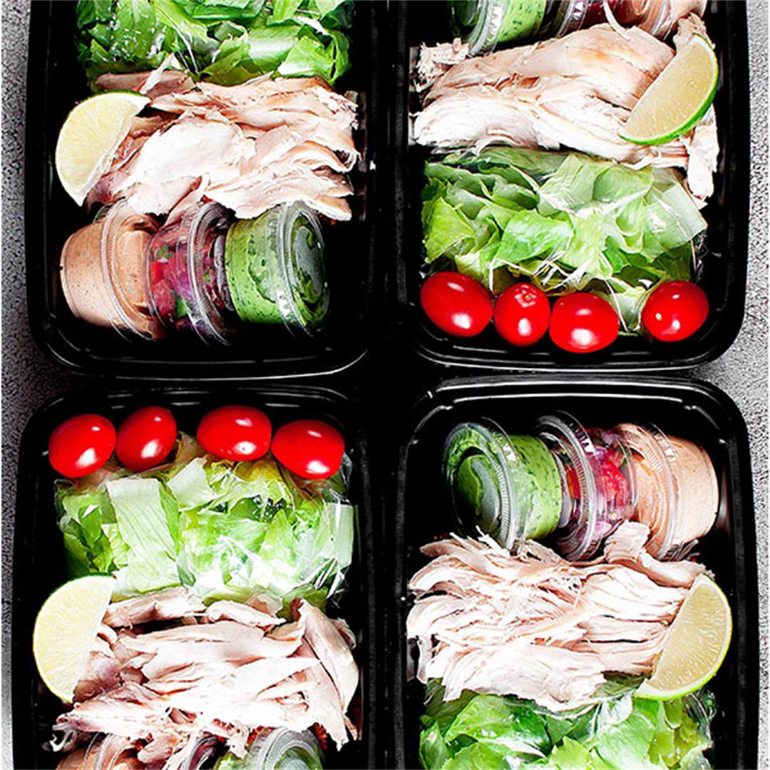 Rotisserie Chicken Taco Salad Meal Prep