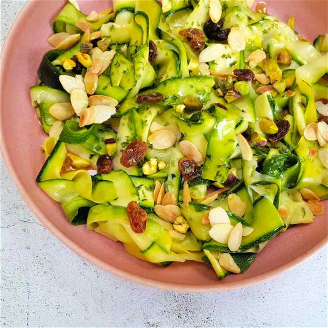 courgette ribbon salad