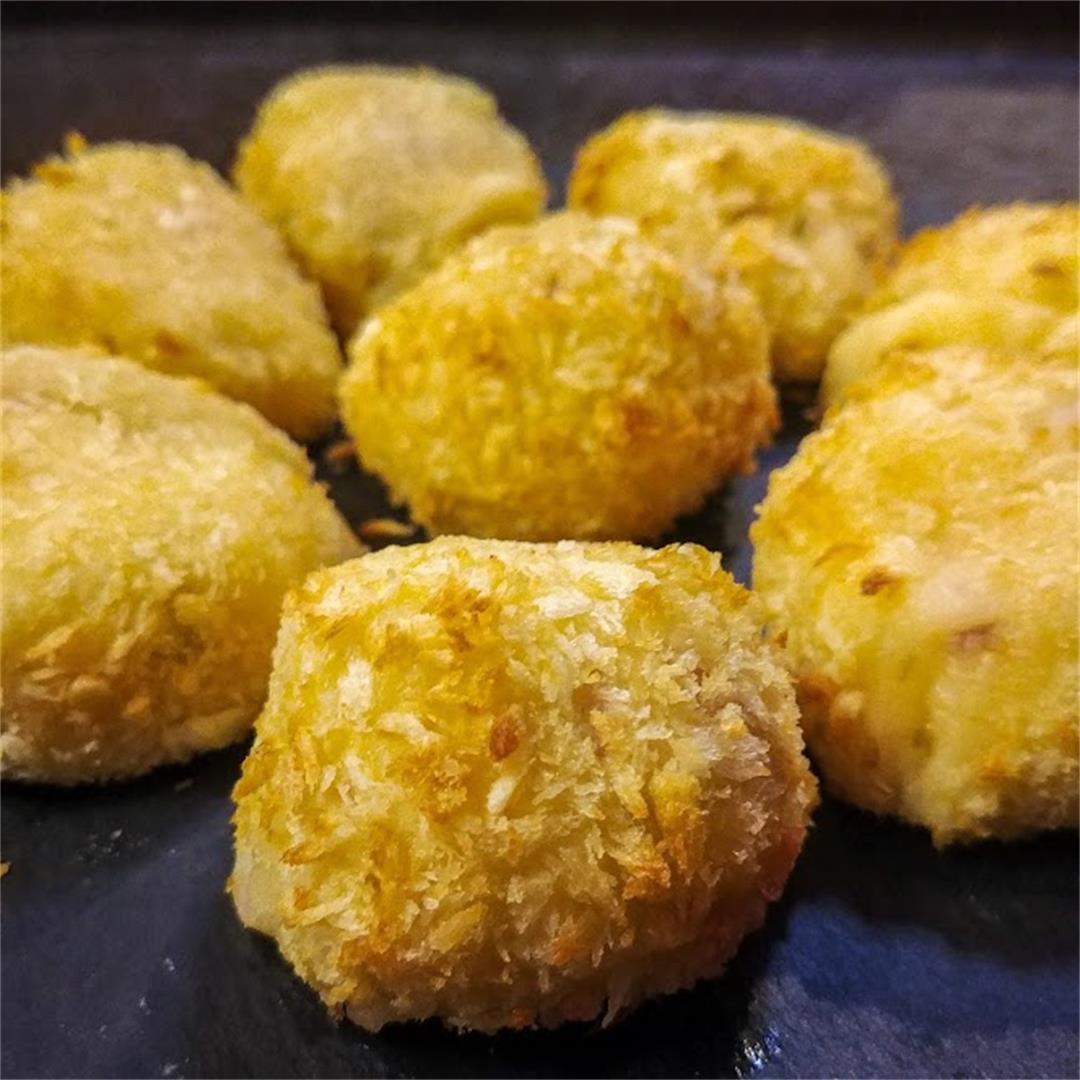 Ham and Cheese Potato Balls