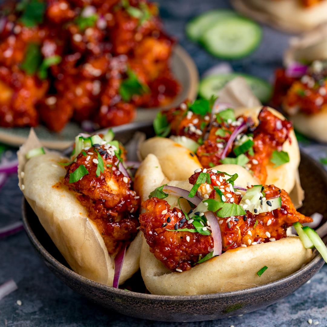 Korean Chicken Bao Buns