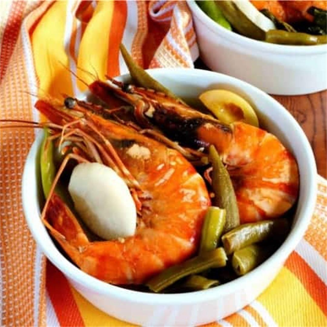 Sinigang Na Hipon Filipino Shrimp Soup