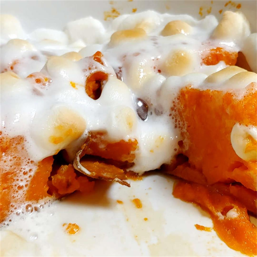 Healthier Sweet Potatoes with Marshmallows