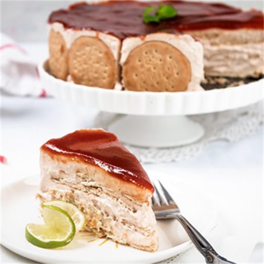 Mexican Guava Charlotte [Carlota] No-Bake Cake