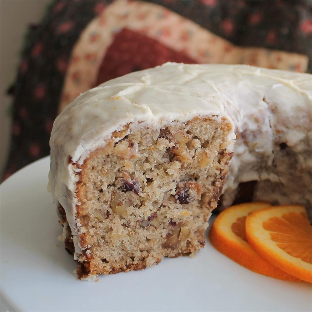 One-Bowl Cranberry Sauce Cake