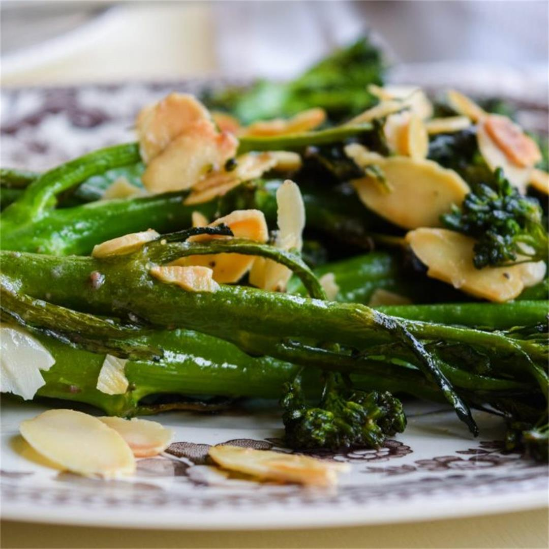 Tenderstem Broccoli with Almonds & Anchovy Butter