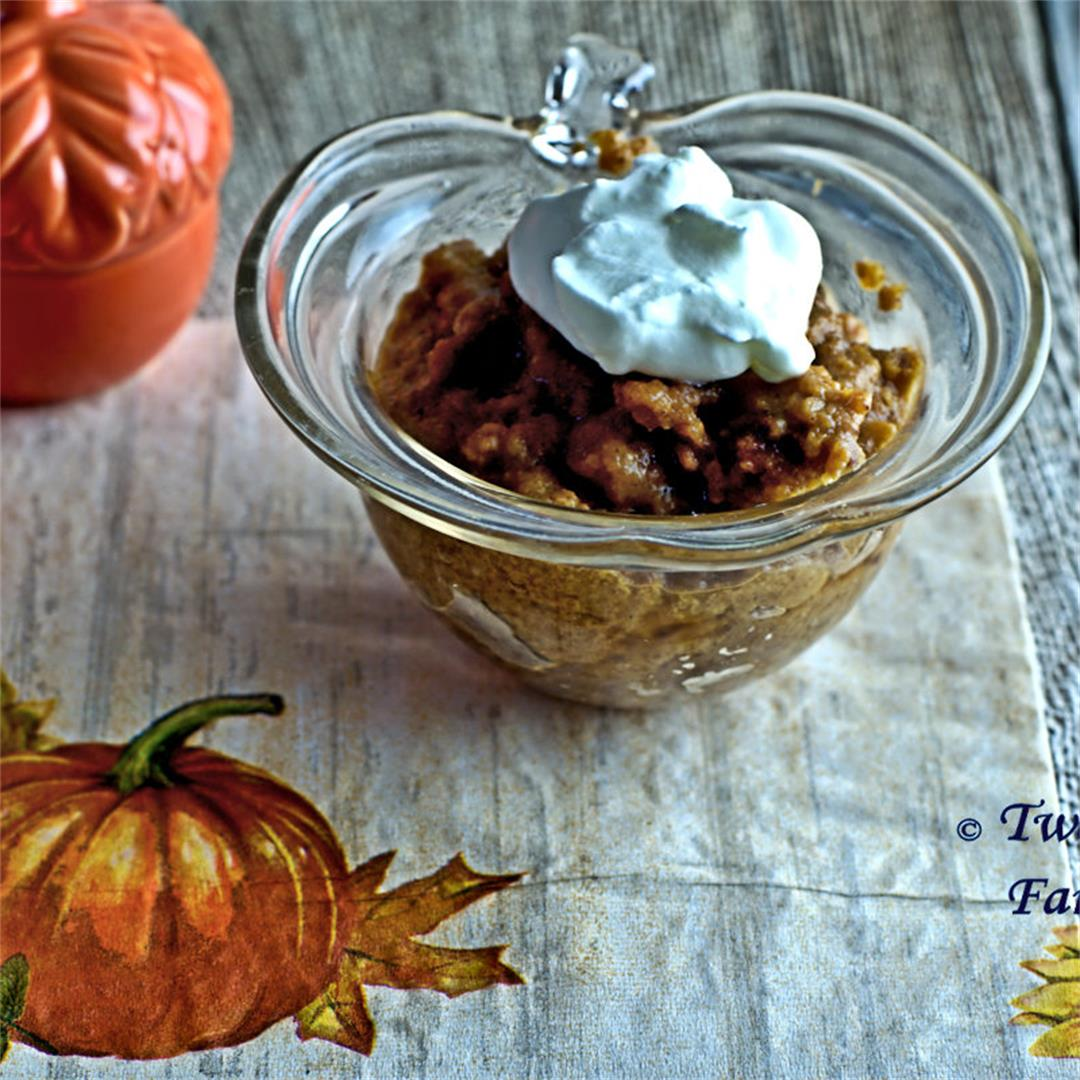 Slow Cooker Indian Pudding for Two