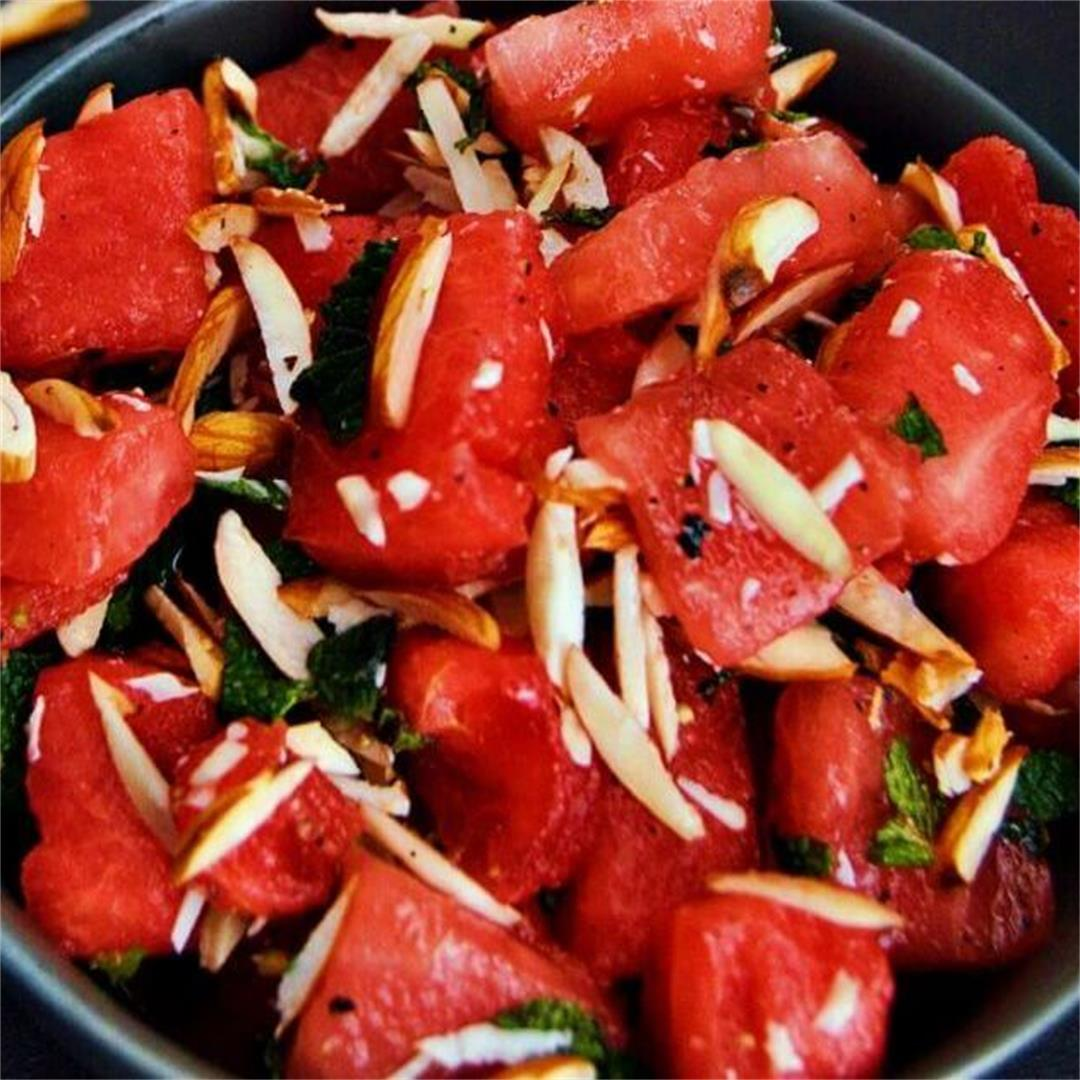 Watermelon Salad (Vegan, Oil-free + Video Recipe)