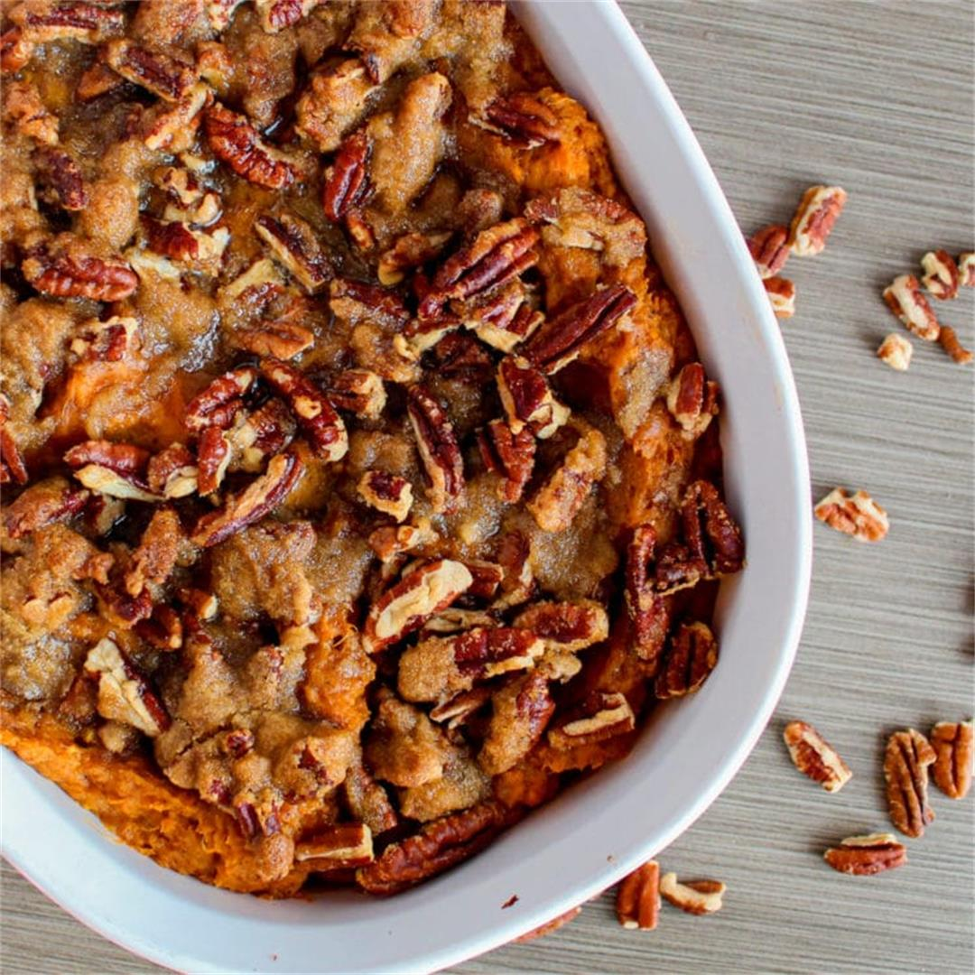 Maple Pecan Sweet Potatoes Recipe