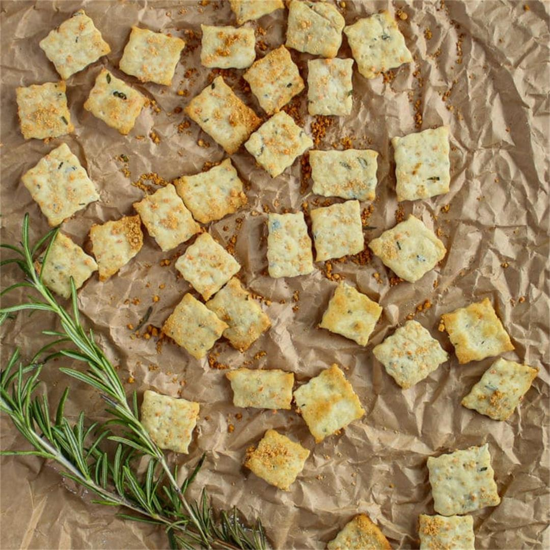 Parmesan Rosemary Crackers Recipe