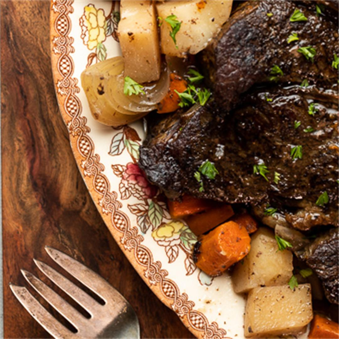 The Best Slow Cooker Pot Roast!