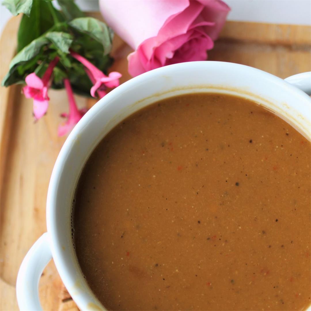 Butternut Squash & Lentil Soup (GF, Vegan)