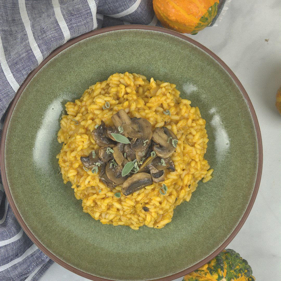 Pumpkin Risotto with Mushrooms – A Gourmet Food Blog