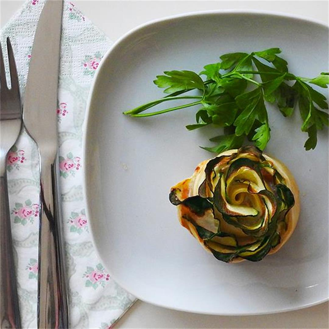 Salmon & Courgette Roses