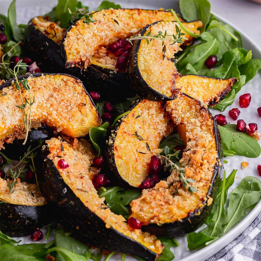 Roasted Squash with Crunchy Panko Coating