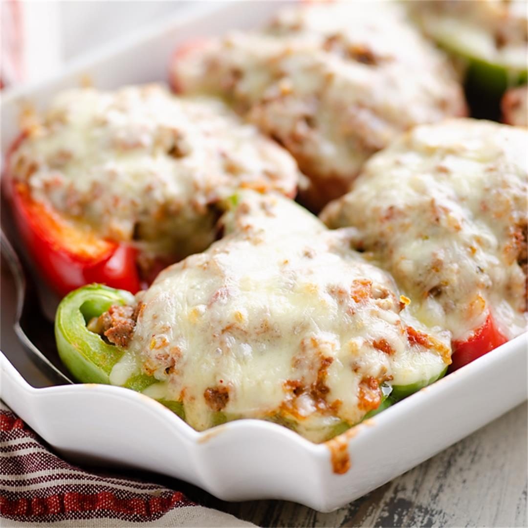Low Carb Southwest Stuffed Peppers