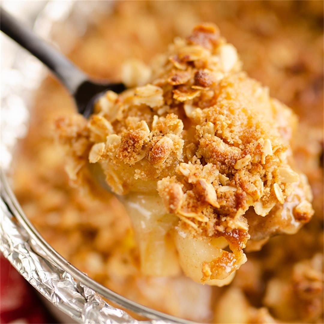 Crispy Pressure Cooker Apple Crisp