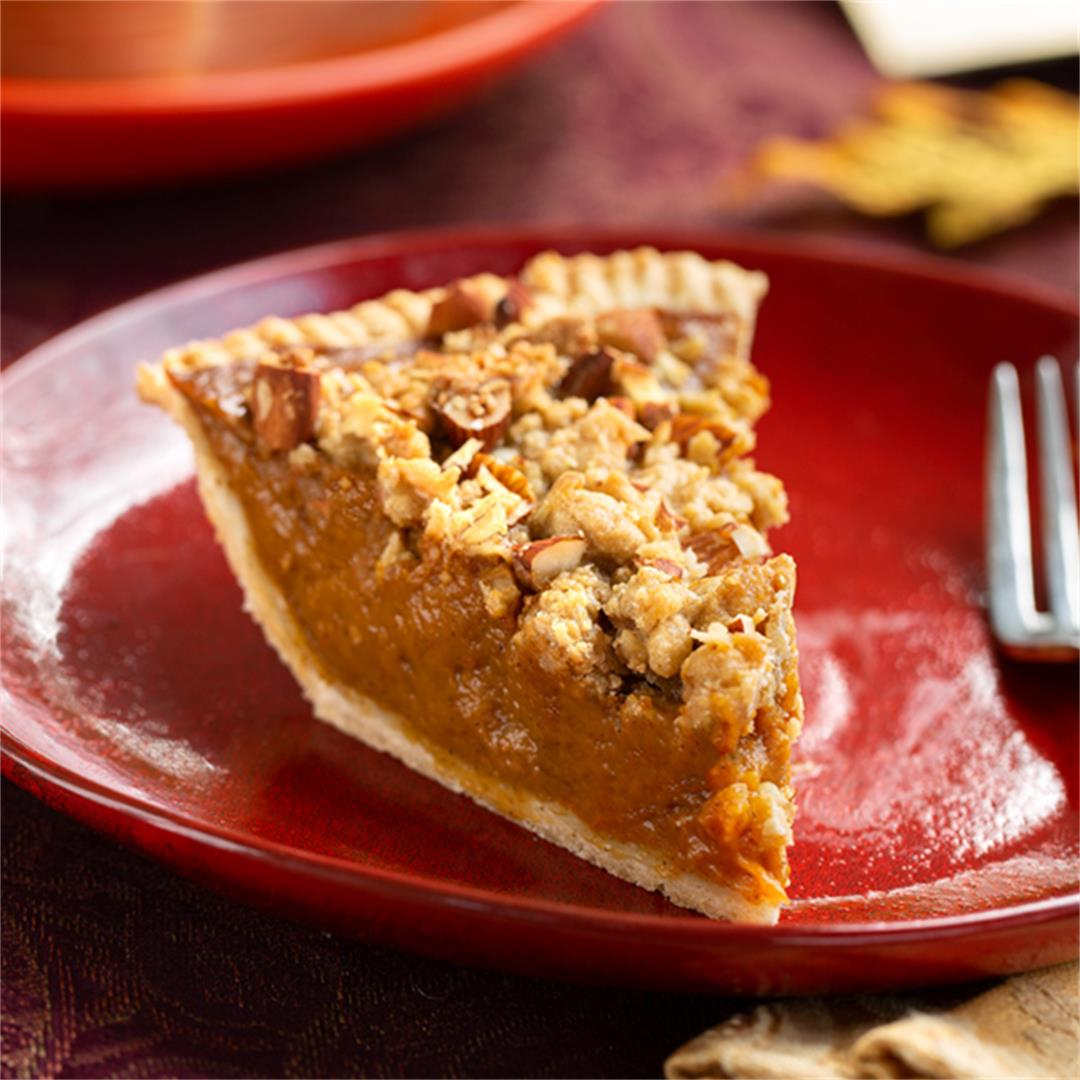 Vegan Pumpkin Struesel Pie