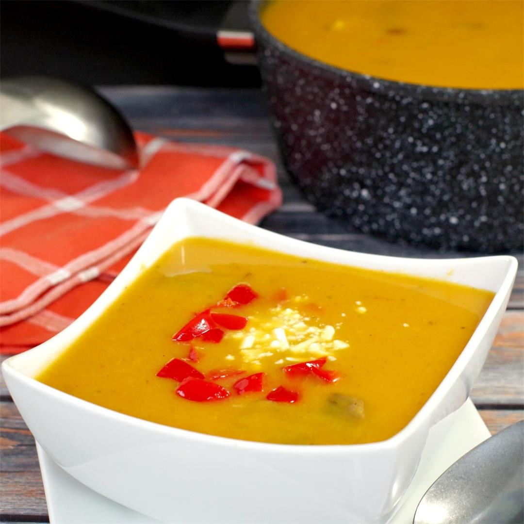 Healthy Pumpkin Soup (no cream)
