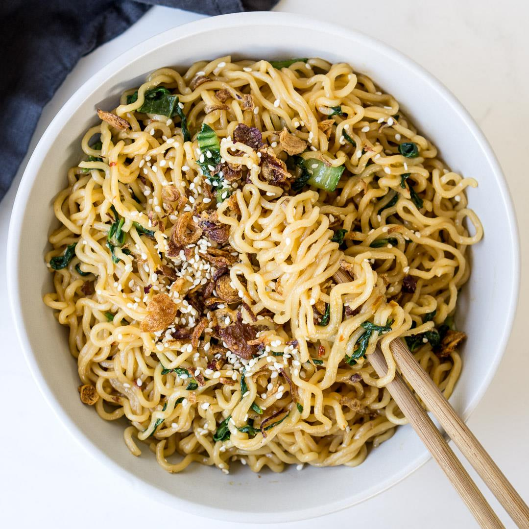 5 Minute Sweet and Spicy Noodles