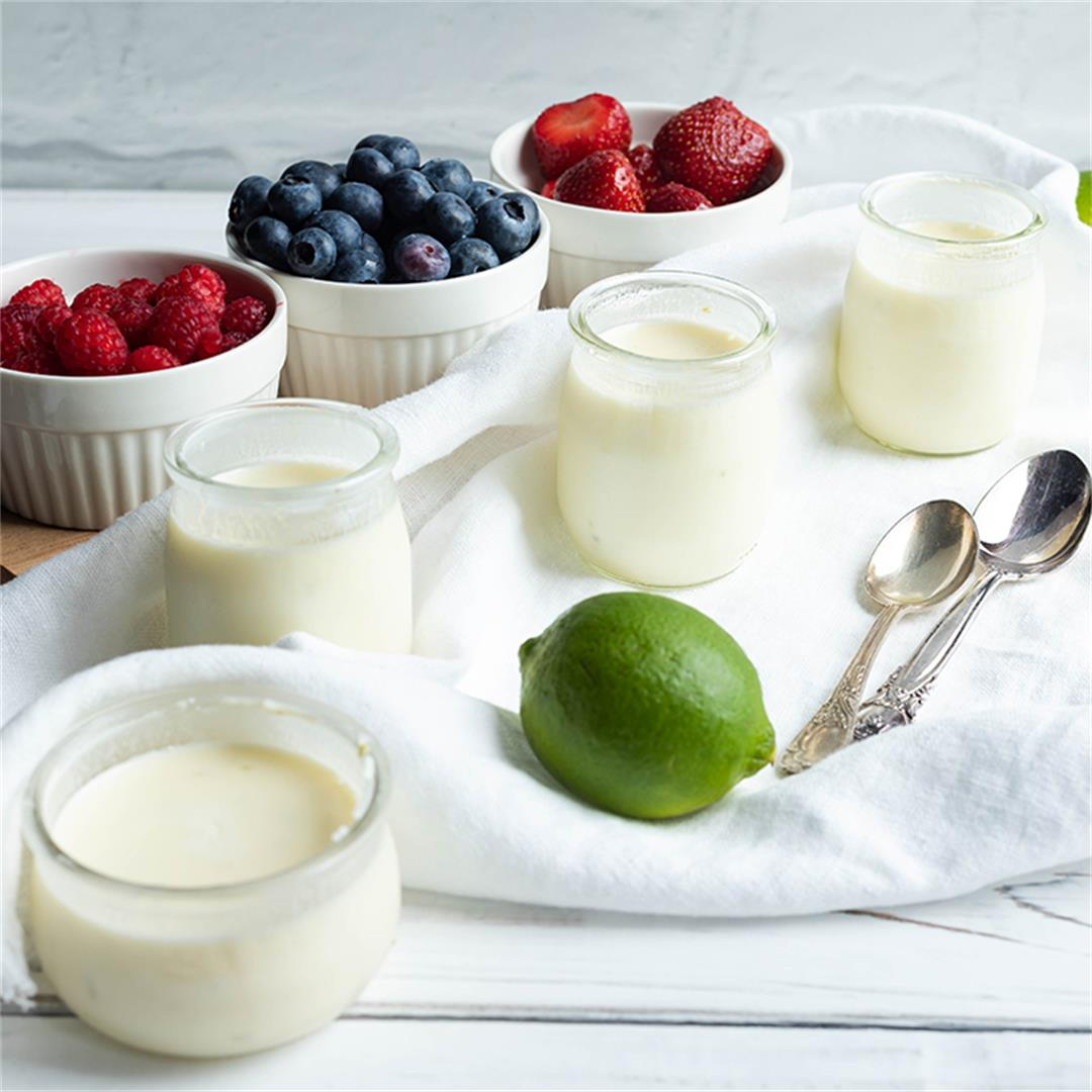 Lime Posset with Fresh Fruits