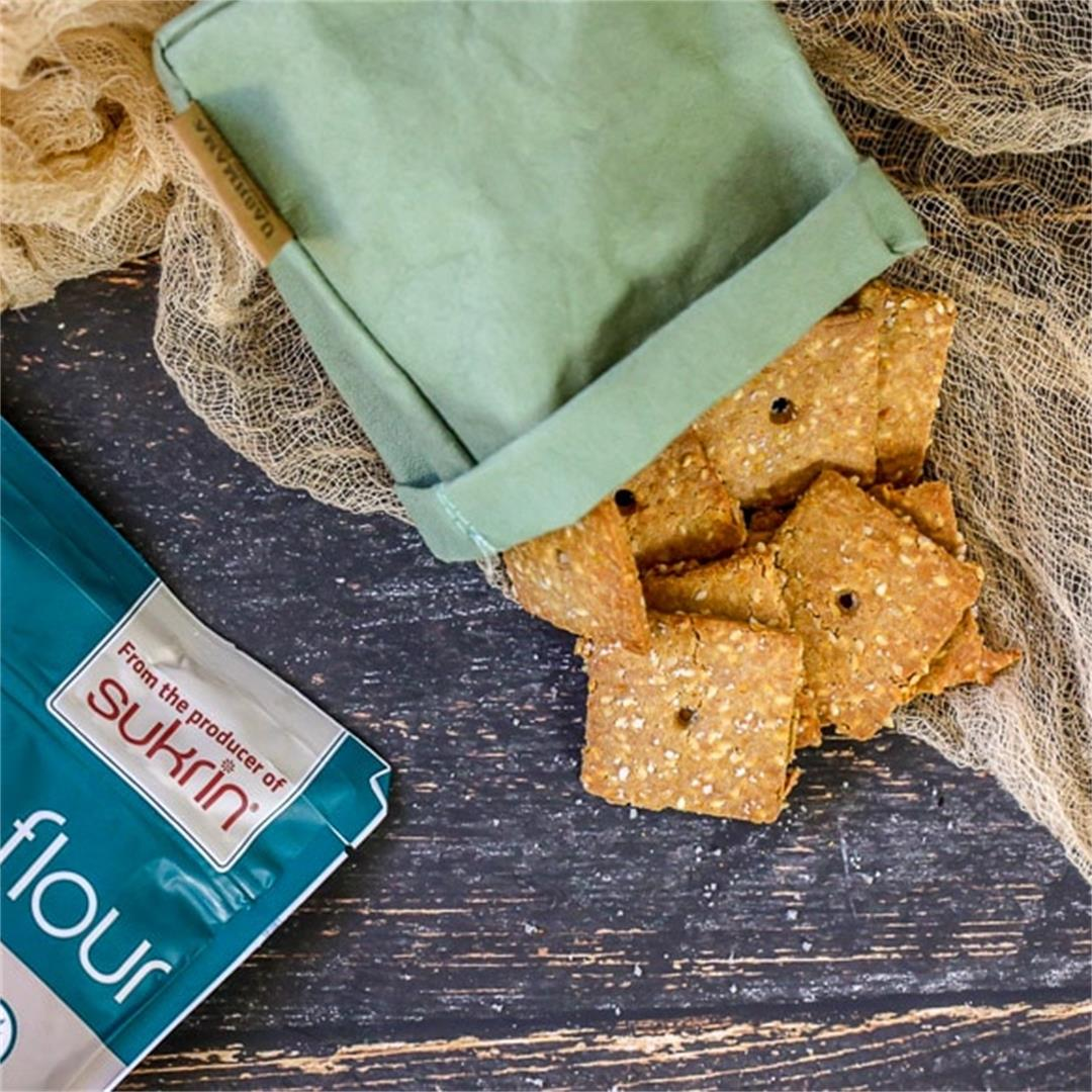 The BEST Super Crunchy Keto Sesame Crackers you MUST try!