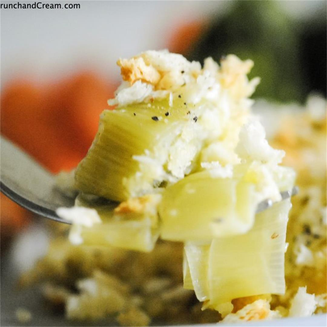 Cheesy & Creamy Leek Bake