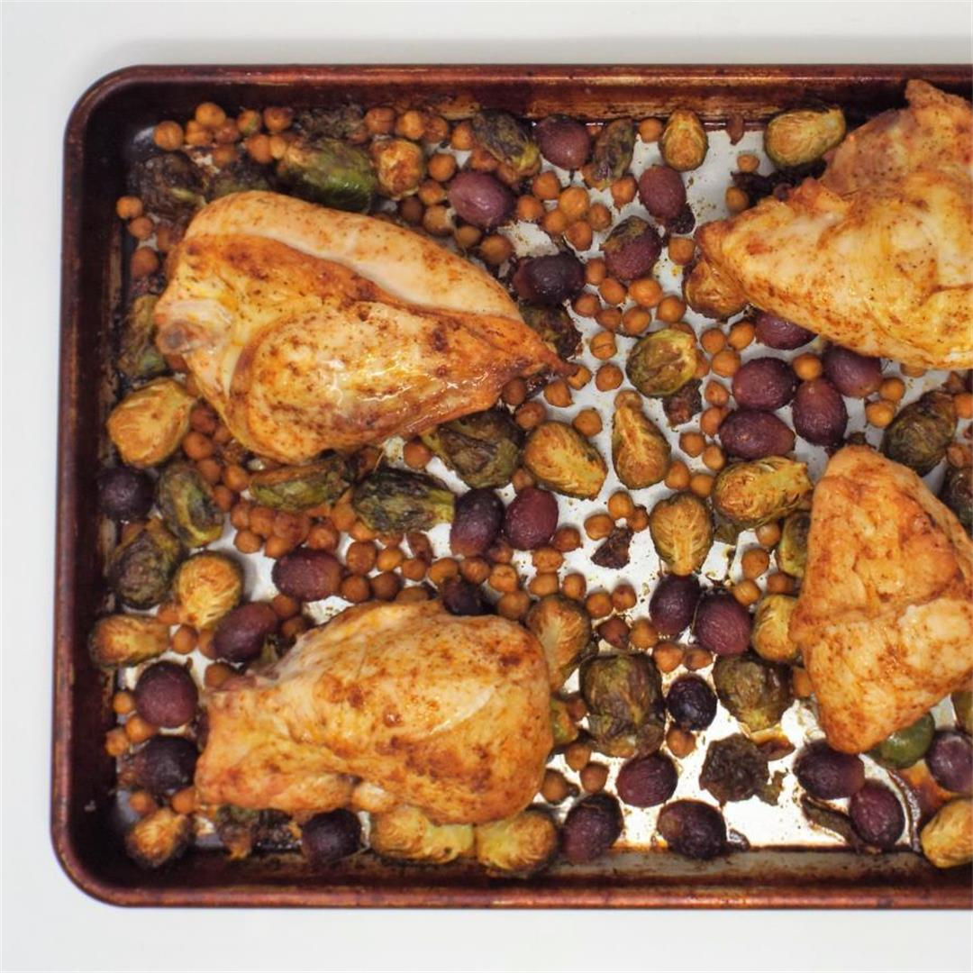 Sheet Pan Chicken, Chickpeas & Sprouts