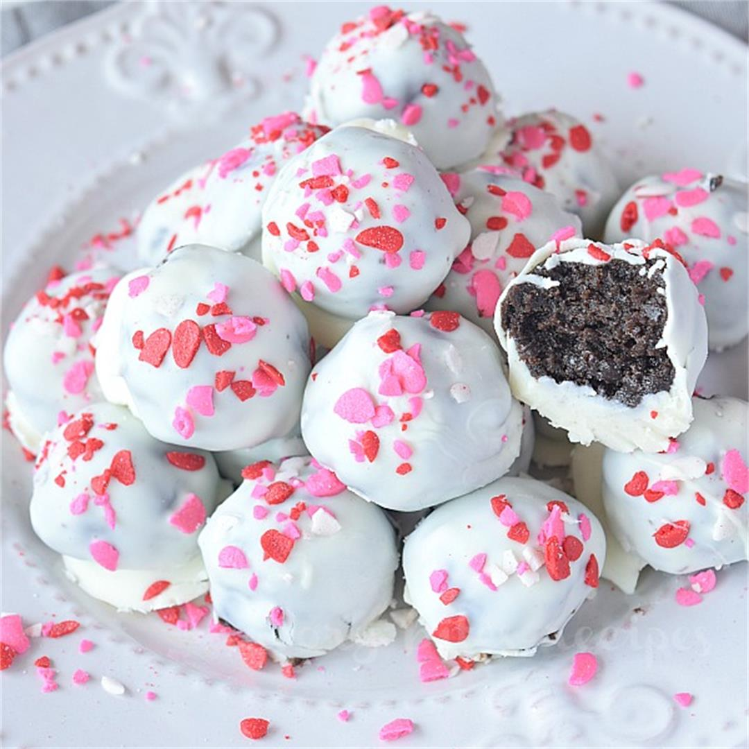 Try This Best No Bake Oreo Truffles With White Chocolate And Pe
